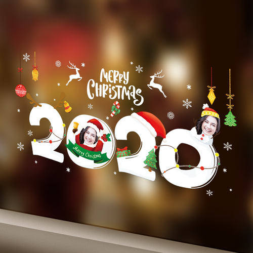 Custom Face Sticker Sheet - Merry Christmas 2020