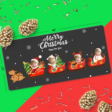 Custom Face Sticker Sheet - Merry Christmas & Happy New Year