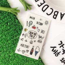 Korean Cute Girl Cartoons Temporary Tattoo Stickers