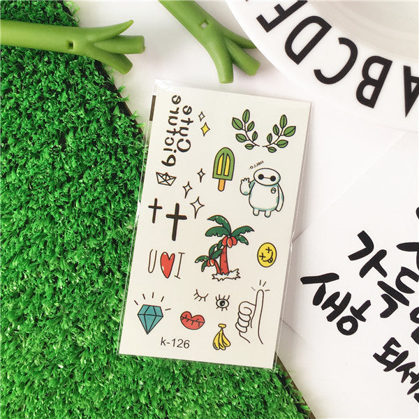 Temporary Tattoo Stickers Korean Cute Various Patterns Stickers