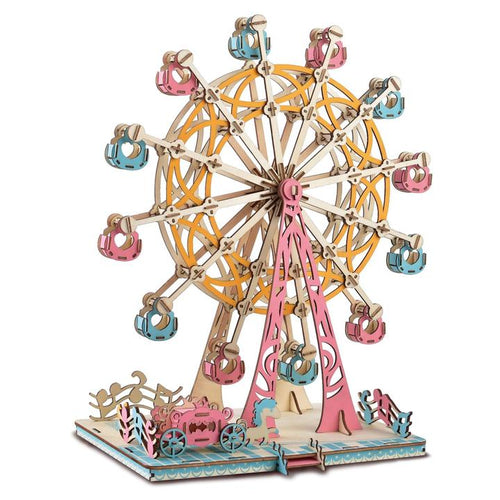 DIY 3d Creative Wooden Puzzle - Happiness Ferris Wheel