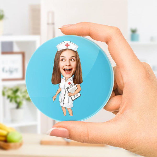 Custom Photo Refrigerator Magnet Personalized Funny Nurse Refrigerator Magnet Best Gift for Nurse