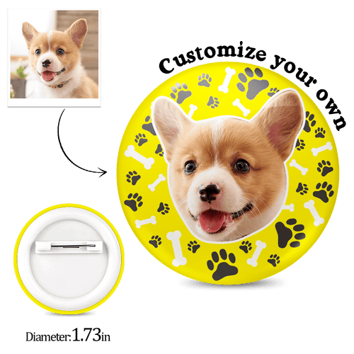 Custom Button - Dog