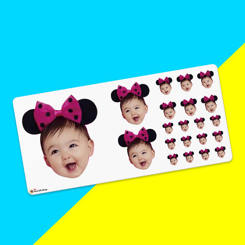 Father's Day Gift Custom Face Sticker Sheet - Baby