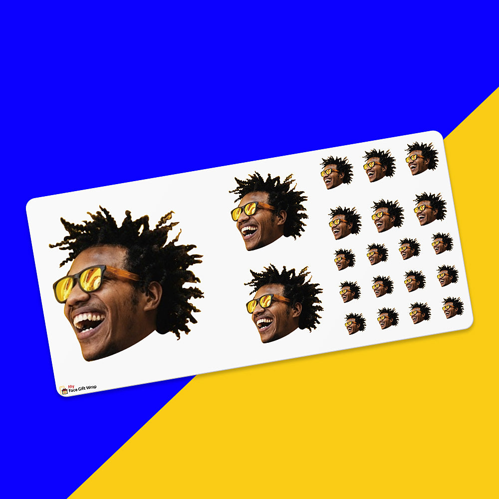 Custom Face Sticker Sheet -  Trendy boy