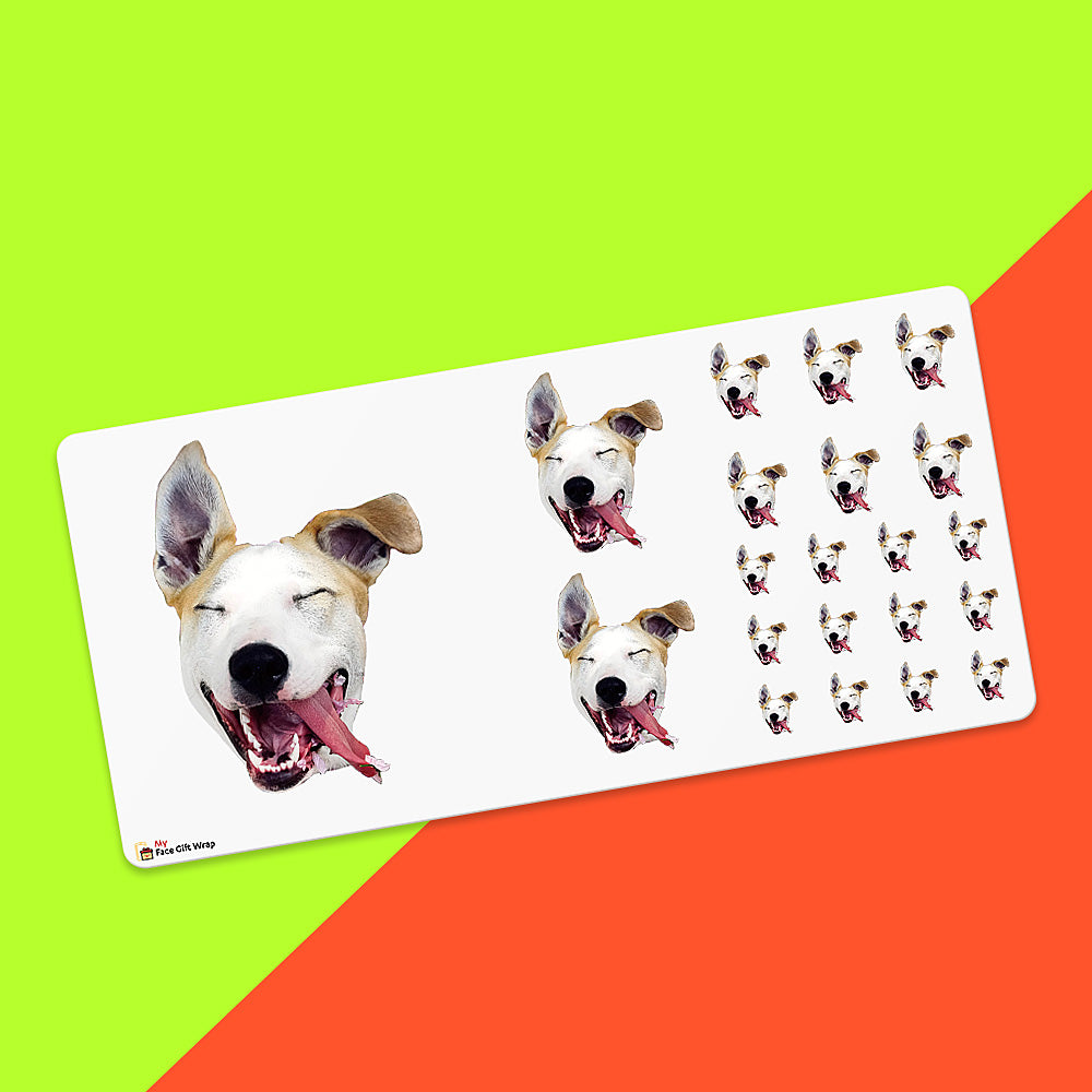 Custom Face Sticker Sheet - Lovely Dog