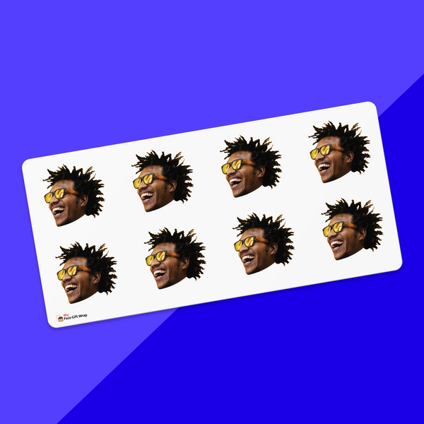 Custom Face Sticker Sheet Trendy Boy 1.6in.