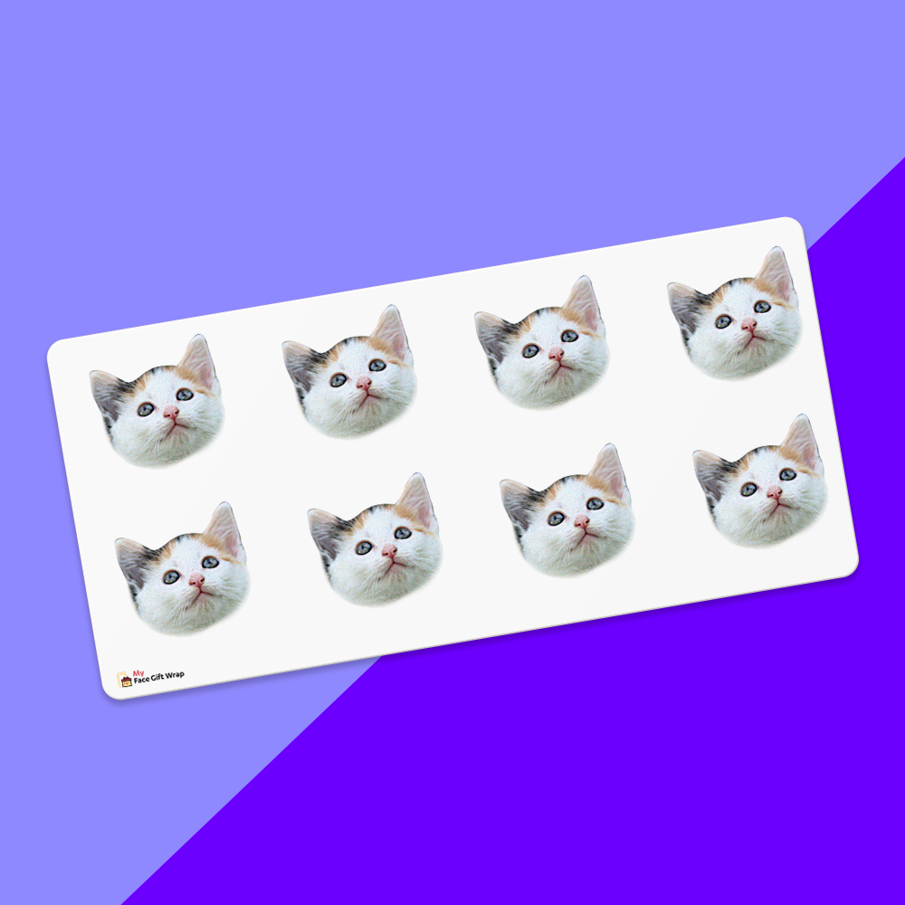 Custom Face Sticker Sheet Cat 1.6in.