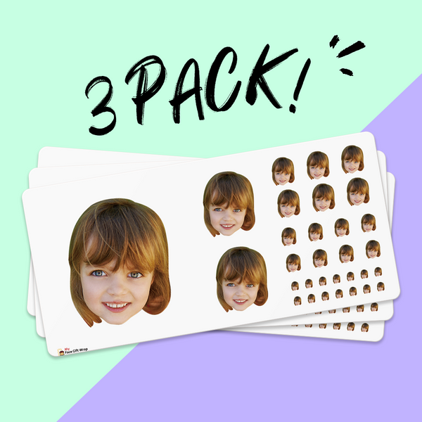 Custom Big Face Sticker Sheet Honey Girl Santa Hat