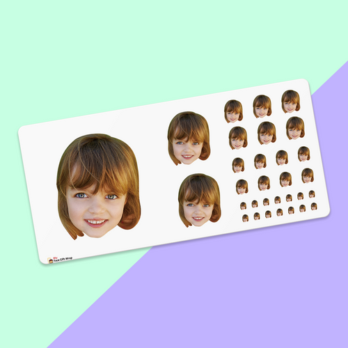 Custom Big Face Sticker Sheet Honey Girl