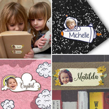 Custom Face Sticker Sheet Photo And Name Flower