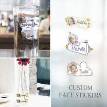 Custom Face Sticker Sheet Photo And Name Clouds