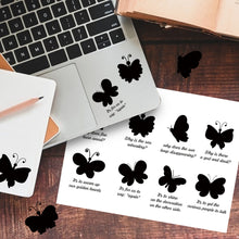 Butterfly Silhouette English Lyrics Sticker-Le Papillon