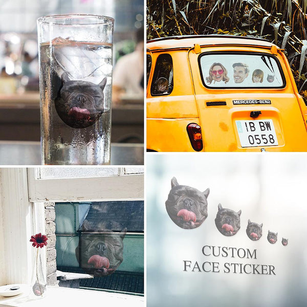 Custom Big Face Sticker Sheet Pet Dog