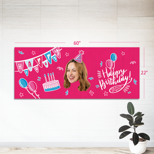 Custom Face Gift Wrap-Banner (22in. x 60in.)