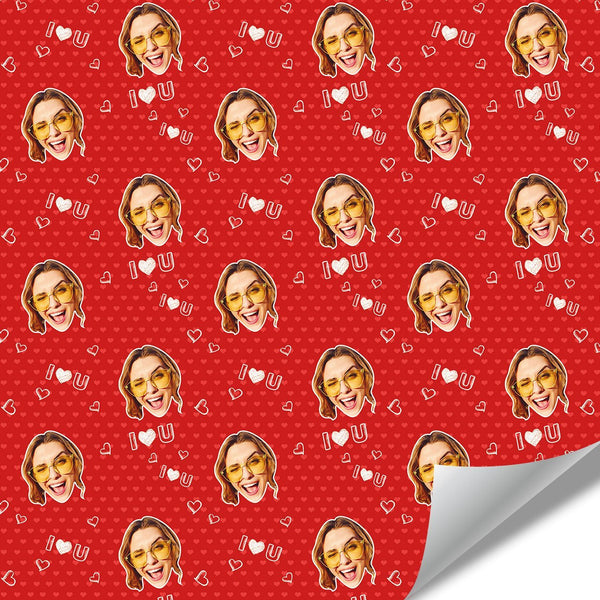 Custom Face Gift Wrap-Love