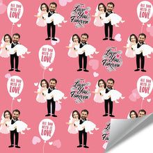Custom Face Gift Wrap-Wedding