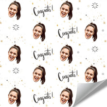 Custom Face Gift Wrap-Congratulations