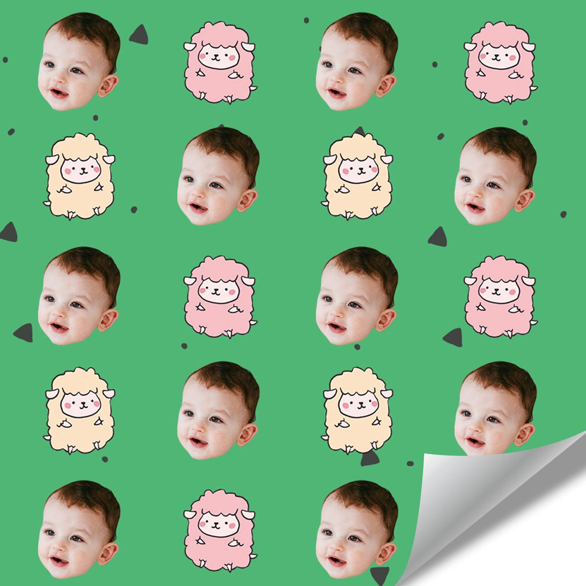 Custom Face Gift Wrap-Fluffy Sheep
