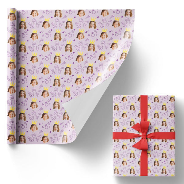 Custom Face Gift Wrapping Paper Personality Gift Paper Crown