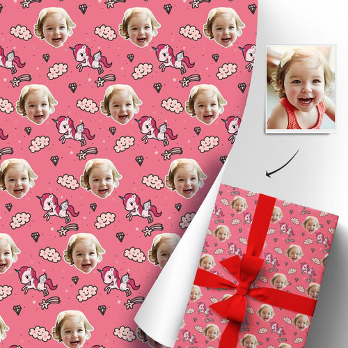 Custom Face Gift Wrapping Paper Personalized Gift Paper