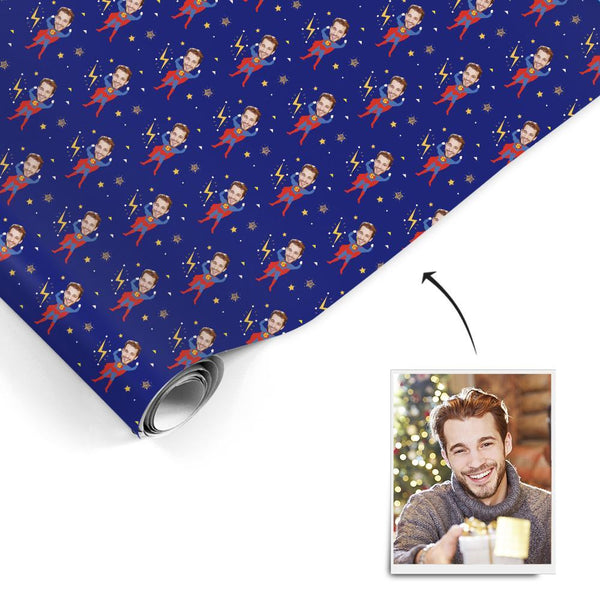 Custom Face Gift Wrapping Paper Superman Gift Paper
