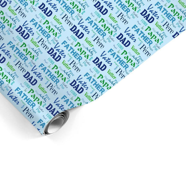 Custom Gift Wrapping Paper Dad Multilingual