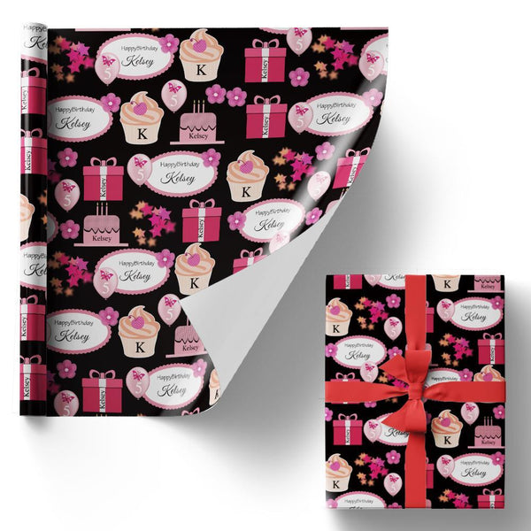 Custom Gift Wrapping Paper Happy Birthday