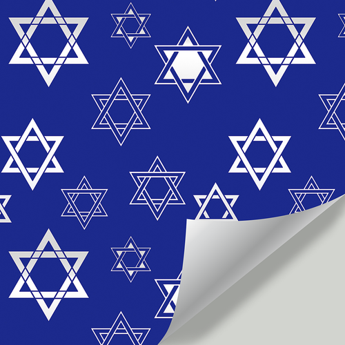 Gift Wrapping Paper-Hanukkah Hexagonal Star