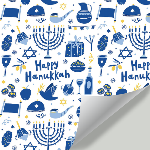 Gift Wrapping Paper Hanukkah Party