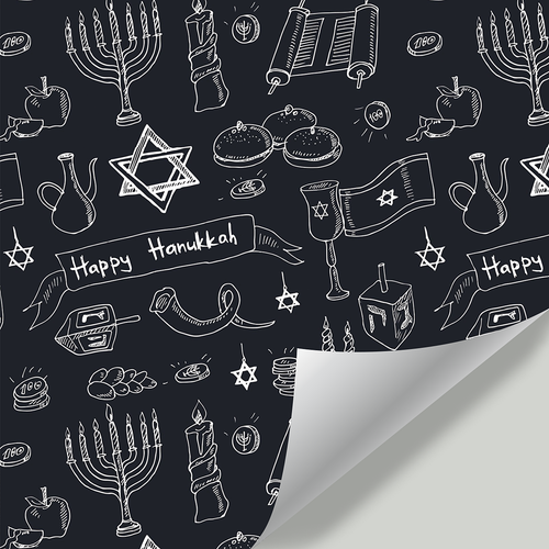 Gift Wrapping Paper Happy Hanukkah