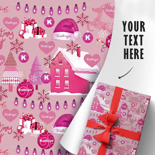 Custom Gift Wrapping Paper Text Can Be Customized