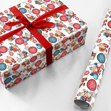Custom Face Gift Wrapping Paper Cartoon Style Santa Claus