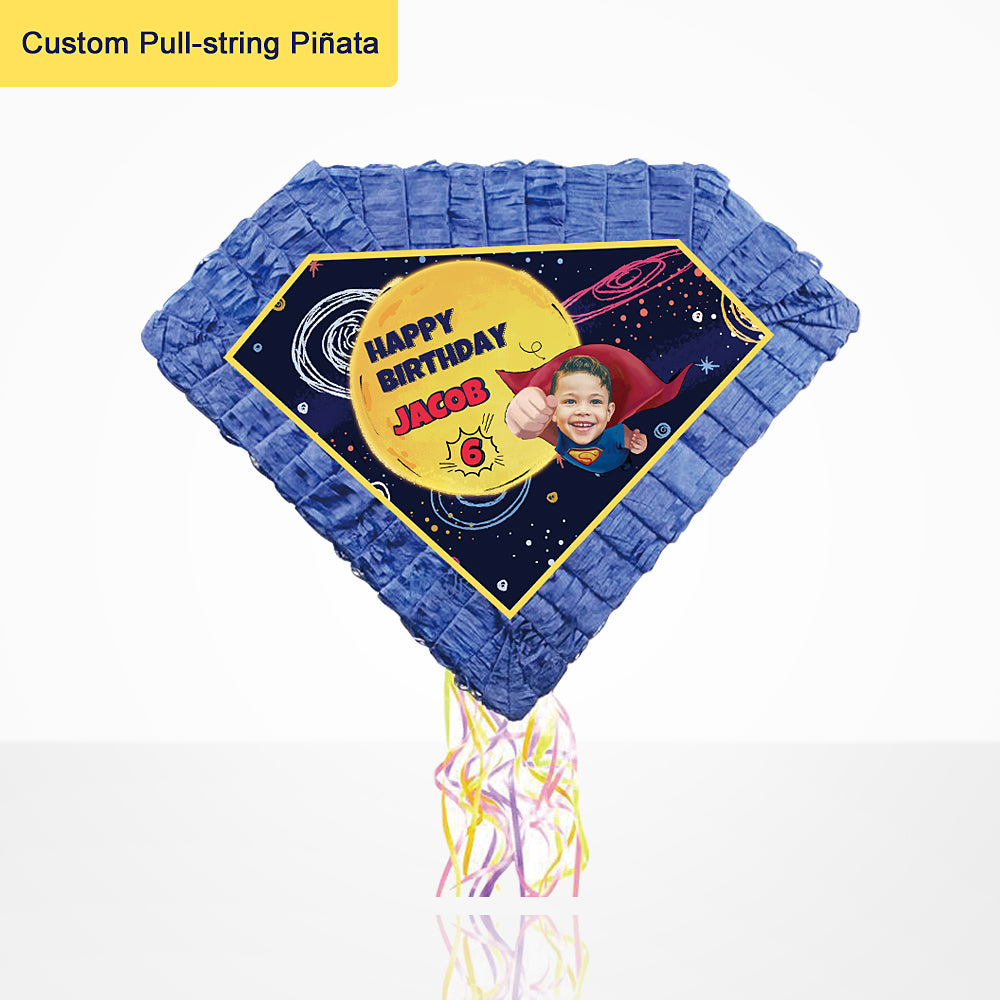 Custom Pull-string Pinata-Superhero