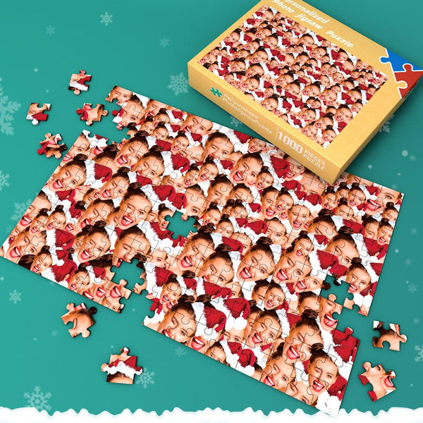 Custom Face Mash Jigsaw Puzzle Gifts For Christmas 35-1000 pieces
