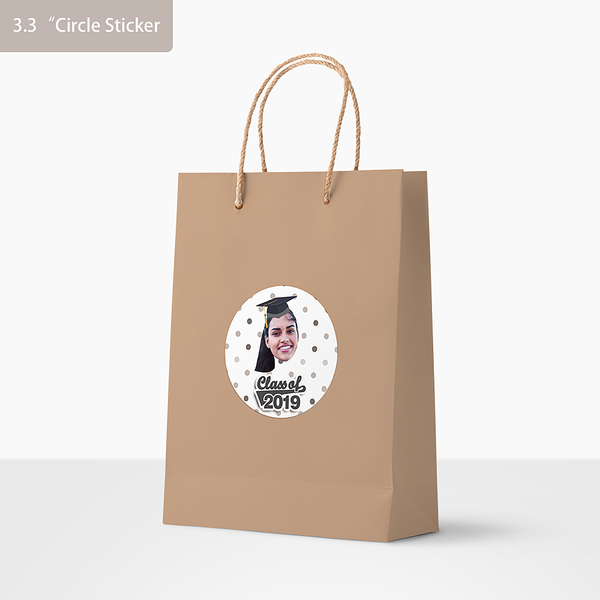 Custom Face Stickers - Graduation 2019 (3.3 in. diameter)