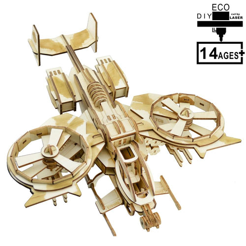 DIY Gifts For Adult Wooden 3D Puzzle RDA Gunship Kits
