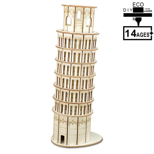 The Leaning Tower of Pisa Model 3D Wooden Puzzle Building Puzzle