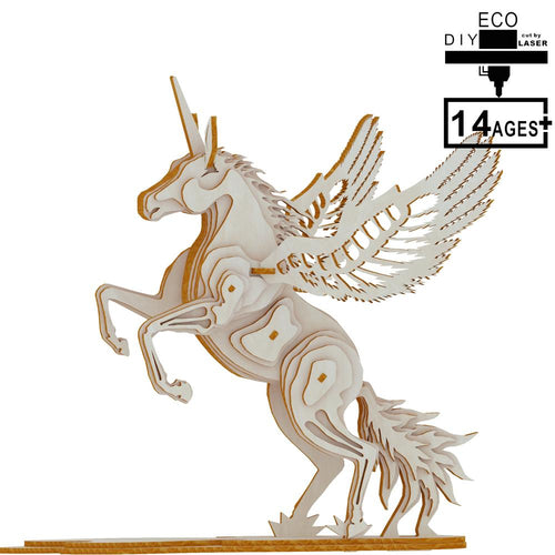Gift For Girlfriend Unicorn 3D Wooden Puzzle Model Kit