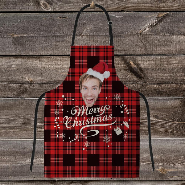 Custom Face Apron-Merry Christmas