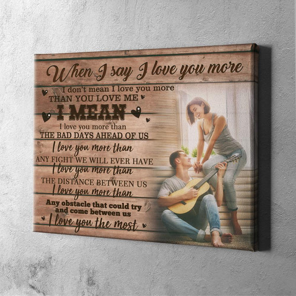 Custom Photo Wall Decor Painting Canvas  Birthday Gift - For Couple