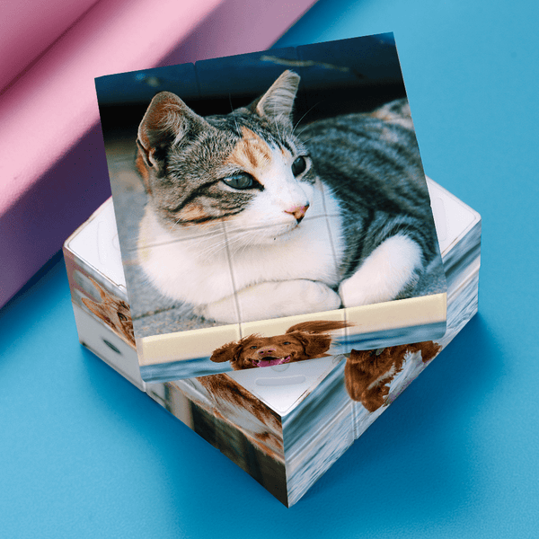 Custom Photo Rubik's Cube Home Decoration For Pets Multiphoto Cube