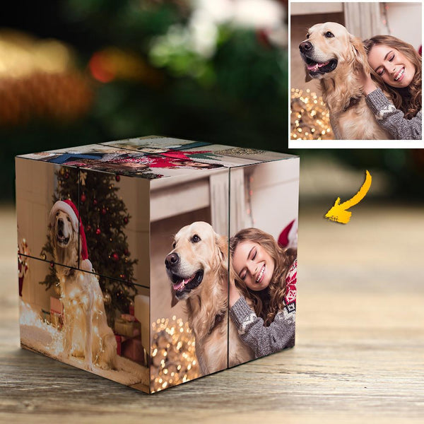 Custom Photo Rubik's Cube DIY Multiphoto Flipping Photo Cubes Christmas Gifts