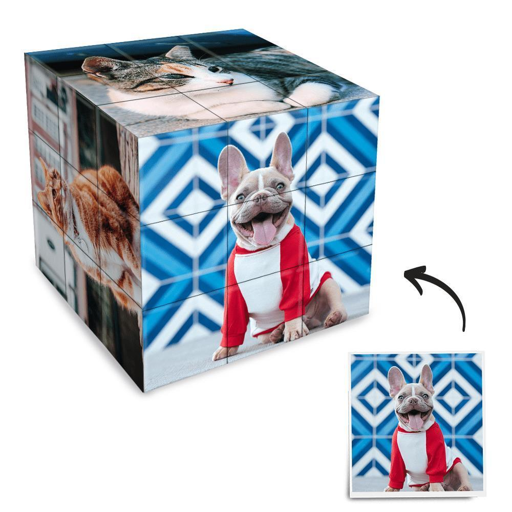 Custom Multi Photo Rubik's Cube - For Pet