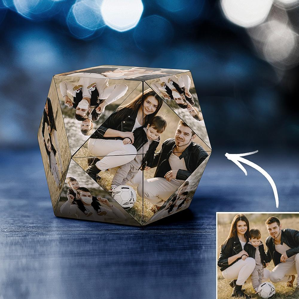 Custom Photo Personalized Rubik's Cube Rhombic for Family