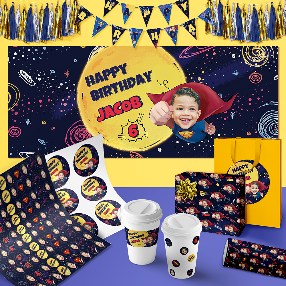Custom Birthday Party Package-Superhero