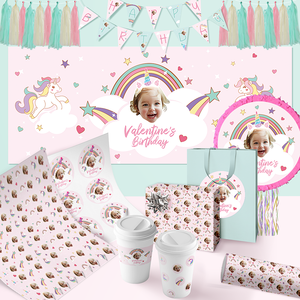 Custom Birthday Party LUXURY Package-Rainbows & Unicorns