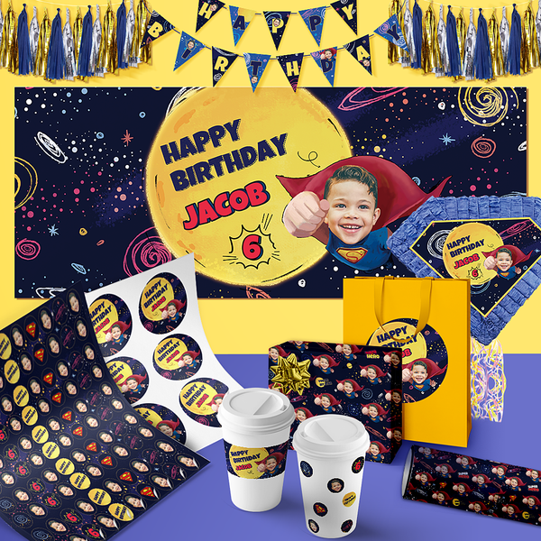 Custom Birthday Party LUXURY Package-Superhero