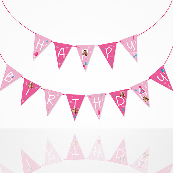 Custom Happy B-day Banner Flag