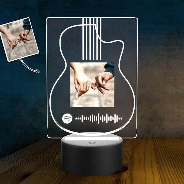Custom Photo Scannable Spotify Code LED light lamp Custom Night Light Couples Gift